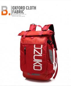 Молодежный модный рюкзак  OZUKO 8020 красный фото вполоборота