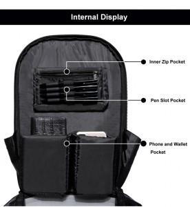 Модный школьный рюкзак OZUKO 8971 фото первого отделения