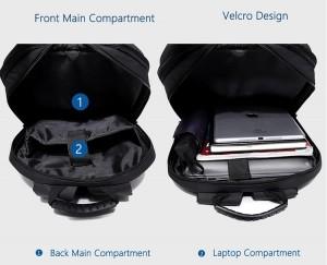 Модный школьный рюкзак OZUKO 8971 фото основного отделения для вещей и ноутбука