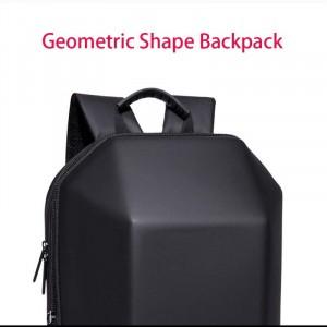 Модный геометрический рюкзак Ozuko 8971 черный водонепромокаемый материал