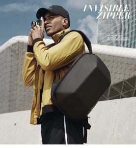 Модный геометрический рюкзак Ozuko 8971 черный удобен в путешествиях