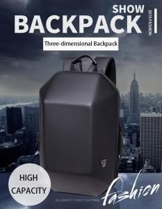Модный каркасный рюкзак Ozuko 8971 черный