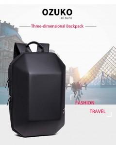 Модный геометрический рюкзак Ozuko 8971 черный