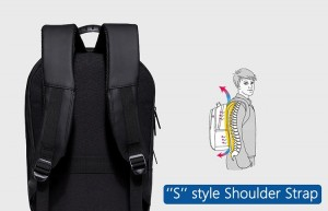 Модный геометрический рюкзак Ozuko 8971 анатомические лямки рюкзака