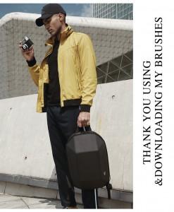 Модный геометрический рюкзак Ozuko 8971 черный современный дизайн