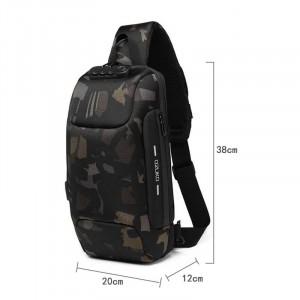 Рюкзак однолямочный OZUKO 9223L камуфляж с размерами