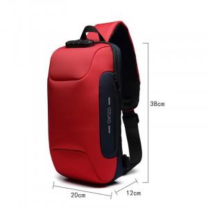 Рюкзак однолямочный OZUKO 9223L красный размеры