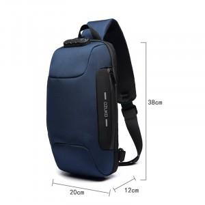 Рюкзак однолямочный OZUKO 9223L синий фото с размерами