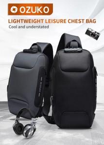 Мужской однолямочный рюкзак OZUKO 9223L  ритм и стиль современного города