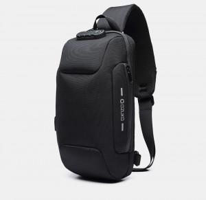 Мужской однолямочный рюкзак OZUKO 9223L черный