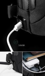 Рюкзак однолямочный OZUKO 9315 USB порт нового поколения