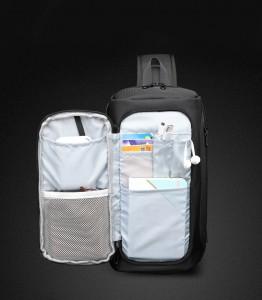 Рюкзак однолямочный OZUKO 9315 функциональное переднее отделение