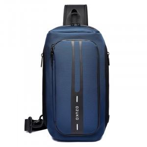 Рюкзак однолямочный OZUKO 9315 синий