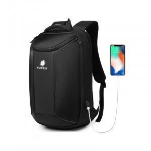 Рюкзак для ноутбука 15,6 Ozuko 9318 черный с USB