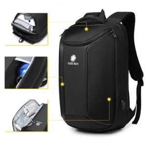 Рюкзак для ноутбука 15,6 Ozuko 9318 черный крепится на чемодан