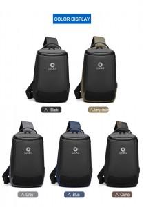 Рюкзак однолямочный мужской OZUKO 9078 ассортимент цветов