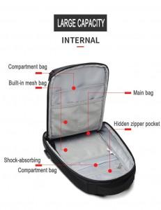 Рюкзак однолямочный мужской OZUKO 9078 фото отделения