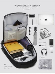 Рюкзак однолямочный мужской OZUKO 9078 фото заполненного отделения