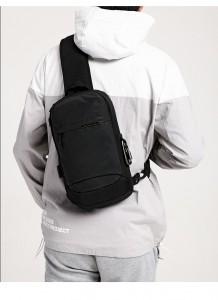Рюкзак однолямочный OZUKO 9262 черный на модели