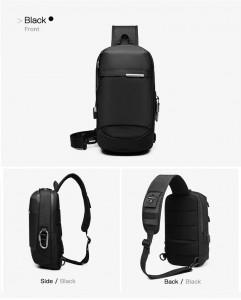 Рюкзак однолямочный OZUKO 9262 в разных плоскостях