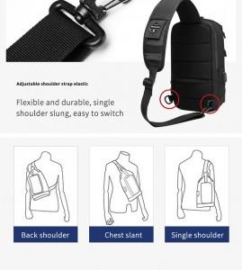 Рюкзак однолямочный OZUKO 9262 способы ношения