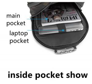 Модный рюкзак для подростков OZUKO 9205 камуфляж фото отделения2
