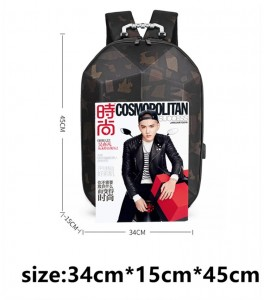 Каркасный рюкзак Ozuko 9205 камуфляж размеры