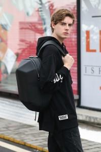 Каркасный рюкзак Ozuko 9205 черный на подростке фото3