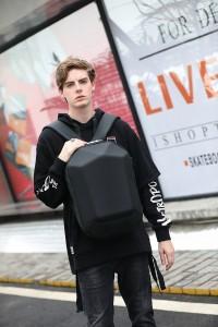 Каркасный рюкзак Ozuko 9205 черный на подростке фото2