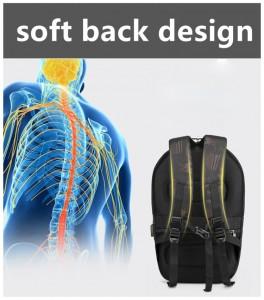 Каркасный рюкзак Ozuko 9205 анатомическая спинка рюкзака