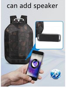 Каркасный рюкзак Ozuko 9205 камуфляж может использоваться с динамиком