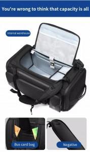 Большая спортивная сумка-рюкзак OZUKO 9326 фото основного отделения