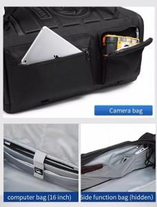 Большая спортивная сумка-рюкзак OZUKO 9326 фото карманов и отделения для ноутбука
