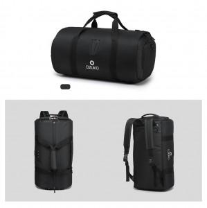 Дорожная сумка для костюма OZUKO 9209 черная в разных плоскостях