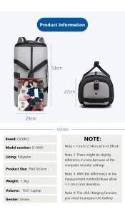 Дорожная сумка для костюма OZUKO 9209 серая фото с характеристиками