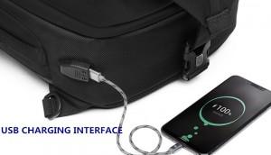 Бизнес сумка - рюкзак ozuko 9291 с USB разъемом