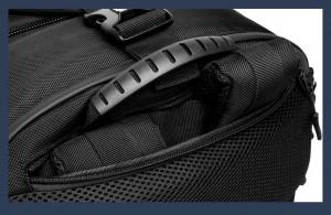 Бизнес сумка - рюкзак ozuko 9291 удобная ручка, лямки прячутся на спинке