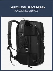 Бизнес сумка - рюкзак ozuko 9291 анатомическая спинка широкие лямки с фиксатором