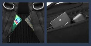 Бизнес сумка - рюкзак ozuko 9291 фото карманов