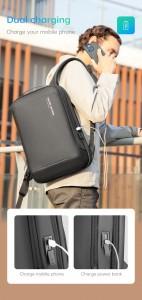 Мужской деловой рюкзак Mark Ryden MR9008  с USB разъемом