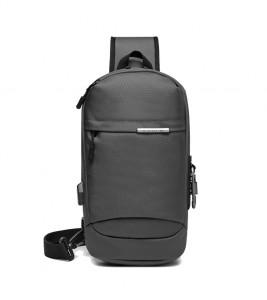 Рюкзак однолямочный OZUKO 9262 серый фото спереди