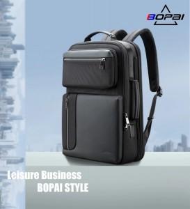 Бизнес рюкзак с нагрудной сумкой 15.6 BOPAI 61-14311A черный