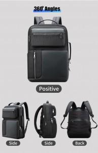 Бизнес рюкзак с нагрудной сумкой 15.6 BOPAI 61-14311A черный в разных плоскостях