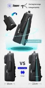 Бизнес рюкзак с нагрудной сумкой 15.6 BOPAI 61-14311A с увеличивающимся отделением