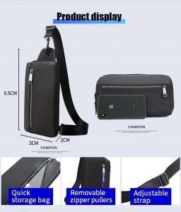 Бизнес рюкзак с нагрудной сумкой 15.6 BOPAI 61-14311A размеры сумки