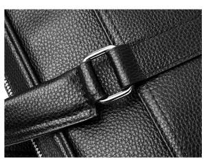 Сумка мужская из натуральной кожи KANGAROO DROI 9904-1 карман, ремни крупным планом