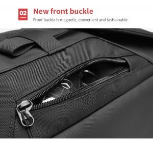 Сумка мужская нагрудная OZUKO 9334 черный карман на передней пенели
