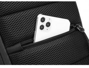 Сумка мужская нагрудная OZUKO 9334 черный карман на тыльной стороне сумки