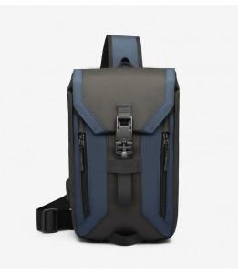 Сумка мужская нагрудная OZUKO 9334 черный с синим фото спереди