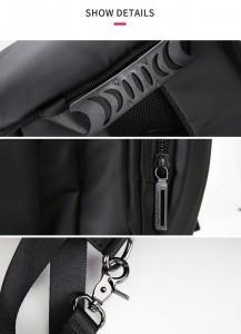 Дорожная сумка-рюкзак MR7091 фурнитура крупным планом
